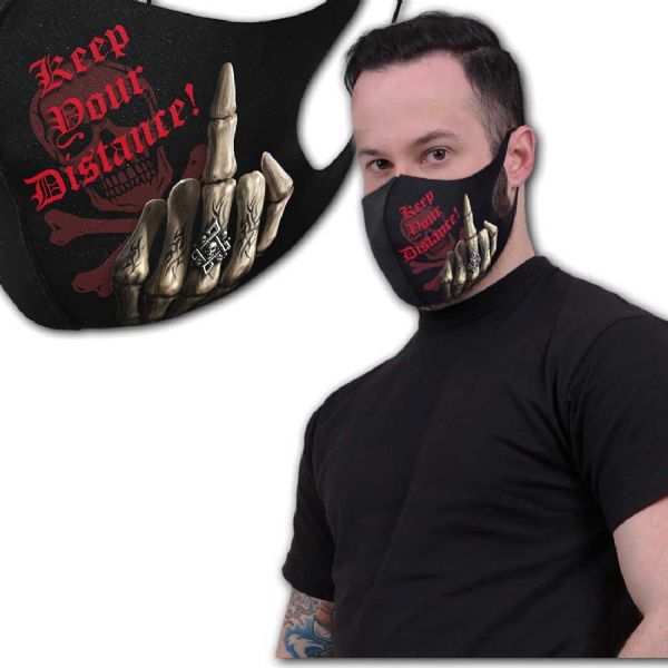 SPIRAL DIRECT Gothic Keep Your Distance Face Mask